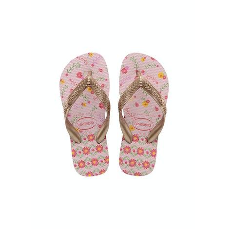 Havaianas Kids Flores crystal rose/ ro Sandalen en slippers Sandalen en slippers