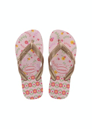 Havaianas Kids Flores crystal rose/ ro Meisjesschoenen Sandalen en slippers