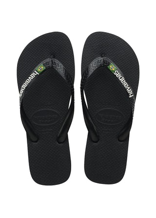 Havaianas Brasil Logo black/black Herenschoenen Slippers