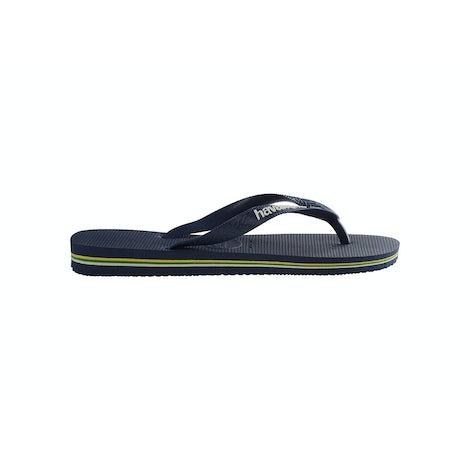Havaianas Brasil Logo navy/blue Slippers Slippers