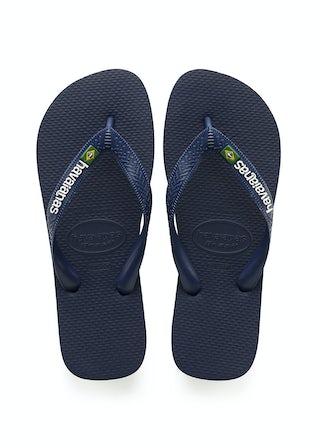Havaianas Brasil Logo navy/blue Herenschoenen Slippers