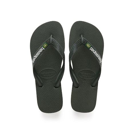 Havaianas Brasil Logo green olive Slippers Slippers
