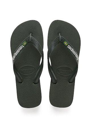 Havaianas Brasil Logo green olive Herenschoenen Slippers