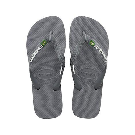 Havaianas Brasil Logo steel grey/ stee Slippers Slippers