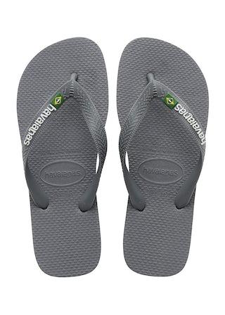 Havaianas Brasil Logo steel grey/ stee Herenschoenen Slippers
