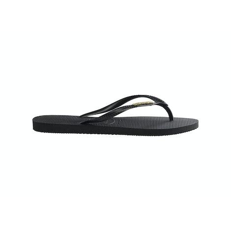 Havaianas Slim Logo Metallic black/Gold Slippers Slippers