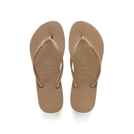 Havaianas Slim Glitter Rose Gold Slippers Slippers