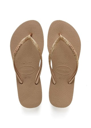 Havaianas Slim Glitter Rose Gold Damesschoenen Slippers
