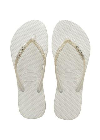 Havaianas Slim Sparkle white Damesschoenen Slippers