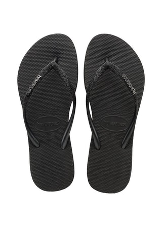 Havaianas Slim Sparkle black Damesschoenen Slippers