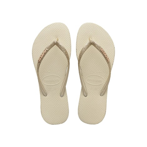 Havaianas Slim Sparkle Beige Slippers Slippers