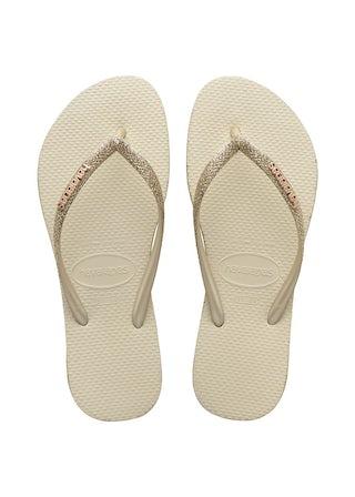Havaianas Slim Sparkle Beige Damesschoenen Slippers
