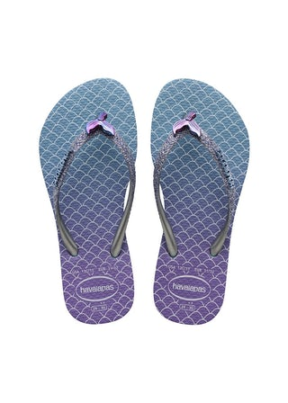 Havaianas Kids Slim Glitter II blue Meisjesschoenen Sandalen en slippers