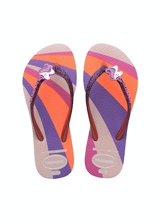 Havaianas Kids Slim Glitter II candy pink Meisjesschoenen Sandalen en slippers