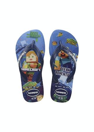 Havaianas Kids Minecraft white Jongensschoenen Sandalen en slippers