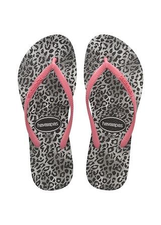 Havaianas Slim Leopard black Meisjesschoenen Sandalen en slippers