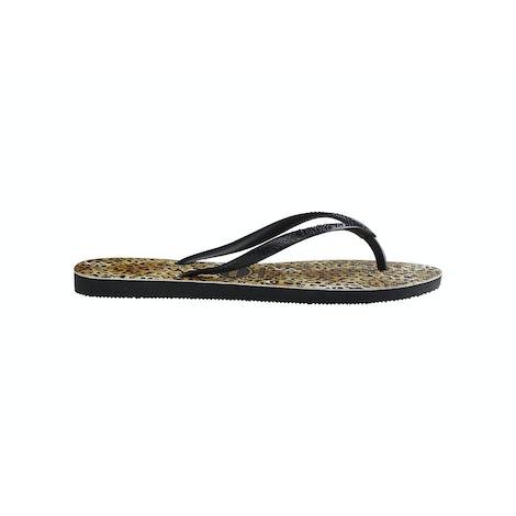 Havaianas Slim Leopard black/black Slippers Slippers