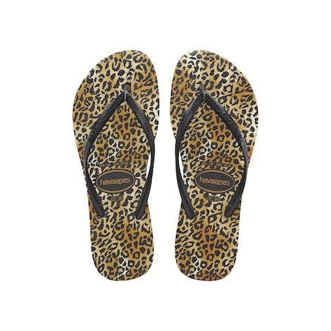 Havaianas Slim Leopard black/black Sandalen en slippers Sandalen en slippers