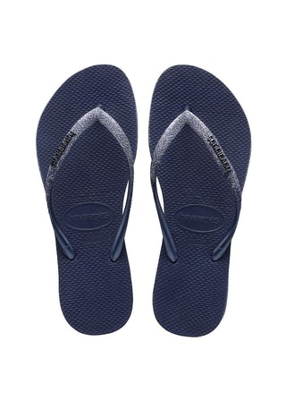 Havaianas Slim Sparkle II Navy Blue Damesschoenen Slippers
