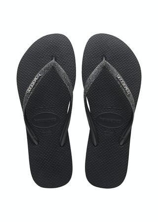 Havaianas Slim Glitter II Black/Dark grey Damesschoenen Slippers