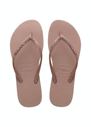 Havaianas Slim Glitter II crocus rose Meisjesschoenen Sandalen en slippers