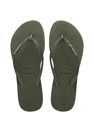 Havaianas Slim Glitter II Green Olive Damesschoenen Slippers
