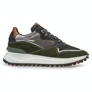 Floris van Bommel 85323/00 dark green Damesschoenen Sneakers