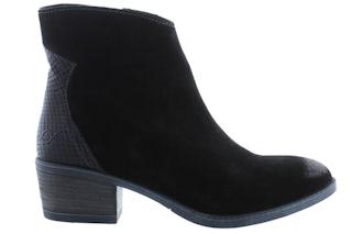 AQA A7600 black Damesschoenen Enkellaarsjes