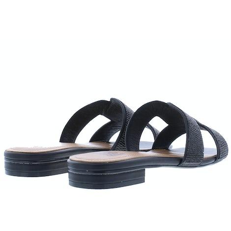 Bibi Lou 838Z00HG Black Slippers Slippers