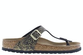 Birkenstock Gizeh 1018464 shiny python bla Damesschoenen Slippers