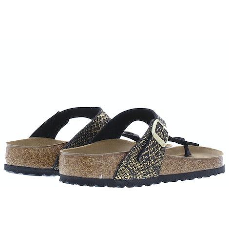Birkenstock Gizeh 1018464 shiny python bla Slippers Slippers