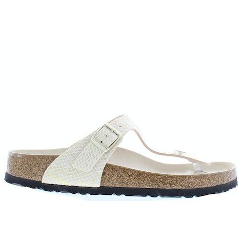 Birkenstock Gizeh 1018481 shiny python egg Slippers Slippers