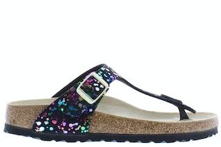 Birkenstock Gizeh kids 1019734 confetti black Meisjesschoenen Sandalen en slippers