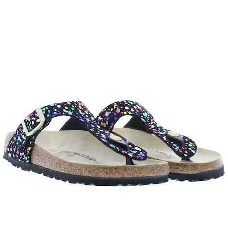 Birkenstock Gizeh kids 1019734 confetti black Sandalen en slippers Sandalen en slippers