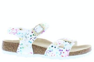 Birkenstock Rio kids 1019743 confetti white Meisjesschoenen Sandalen en slippers