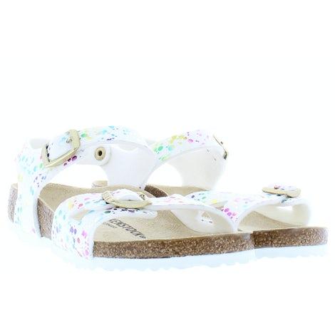 Birkenstock Rio kids 1019743 confetti white Sandalen en slippers Sandalen en slippers