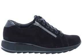 Durea 6239 H 8544 zwart Damesschoenen Veterschoenen