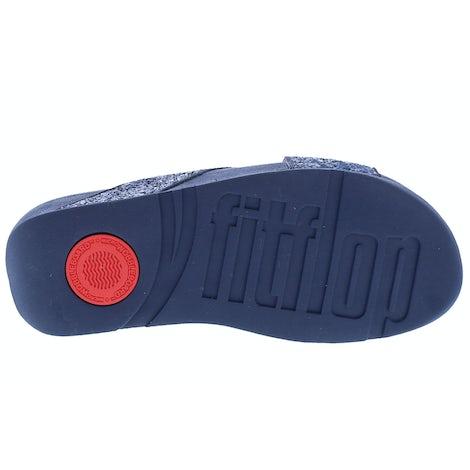 Fit Flop Lulu glitter slides X02 399 midnight nav Slippers Slippers