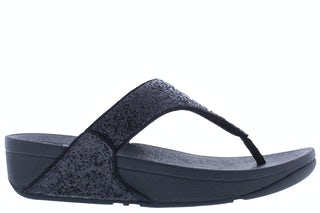Fit Flop Lulu glitter toe thongs X03 339 black glitter Damesschoenen Slippers