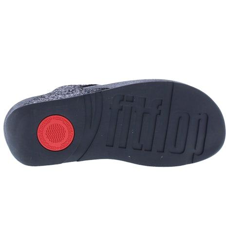 Fit Flop Lulu glitter toe thongs X03 339 black glitter Slippers Slippers