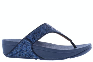 Fit Flop Lulu glitter toe thongs X03 399 midnight nav Damesschoenen Slippers