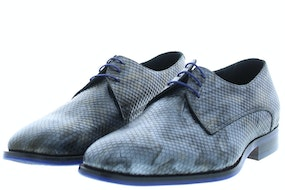 Floris 18168/10 grey print metal Herenschoenen Veterschoenen
