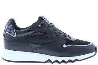 Floris van Bommel 85302/12 black print Damesschoenen Sneakers