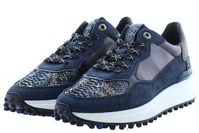 Floris van Bommel 85307/09 black textile Damesschoenen Sneakers