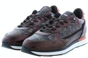 Floris van Bommel 85312/04 d. brown craq Damesschoenen Sneakers
