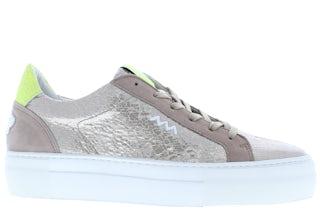 Floris van Bommel 85333/03 taupe met. Damesschoenen Sneakers