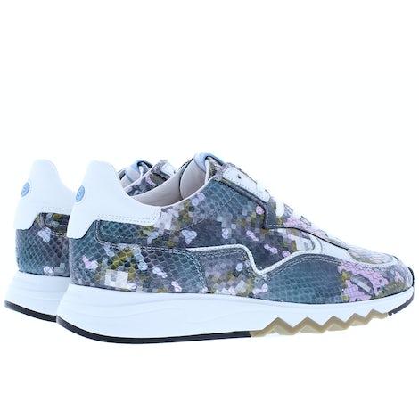 Floris van Bommel 85334/08 steel blue snake Sneakers Sneakers