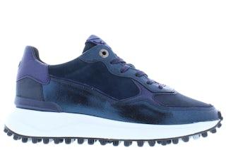 Floris van Bommel 85343/14 blue craquele Damesschoenen Sneakers