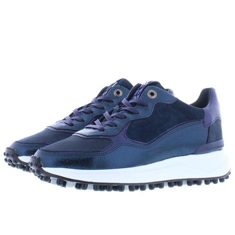 Floris van Bommel 85343/14 blue craquele Sneakers Sneakers
