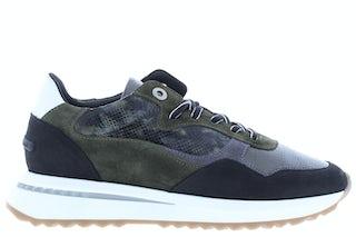 Floris van Bommel 85351/05 d. green snake Damesschoenen Sneakers